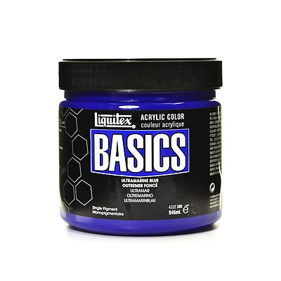 Liquitex Basics Acrylics Colors Ultramarine Blue 32 Oz. Jar (4332380)