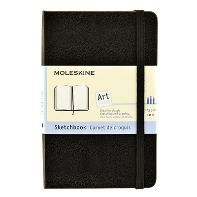 Moleskine Classic Hard Cover Notebooks Black 3 1/2 In. X 5 1/2 In. 80 Pages, Sketch [Pack Of 2] (2PK-9788883701054)
