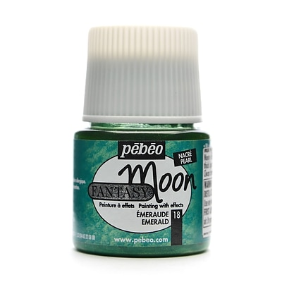 Pebeo Fantasy Moon Effect Paint Emerald 45 Ml [Pack Of 3] (3PK-167018CAN)