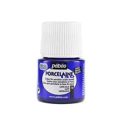 Pebeo Porcelaine 150 China Paint Lapis Blue 45 Ml [Pack Of 3] (3PK-024-016)