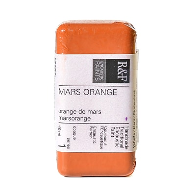 R  And  F Handmade Paints Encaustic Paint Mars Orange 40 Ml [Pack Of 2] (2PK-1018)