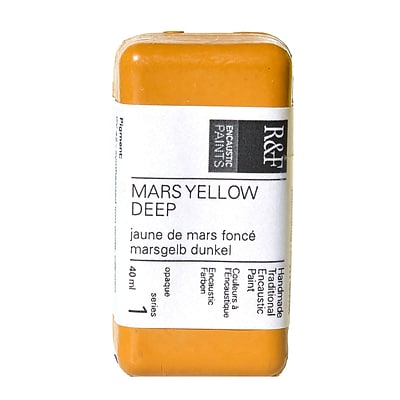 R  And  F Handmade Paints Encaustic Paint Mars Yellow Deep 40 Ml [Pack Of 2] (2PK-1017)