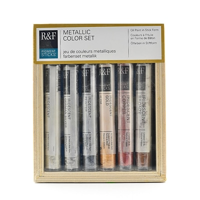 R  And  F Handmade Paints Pigment Stick Sets Metallic (2920)