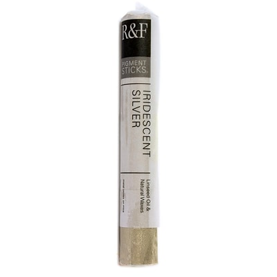R  And  F Handmade Paints Pigment Sticks Iridescent Silver 38 Ml (2181)