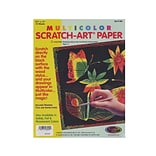 Scratch Art Multicolor Scratch-Art Paper Pack Of 12 (8000)