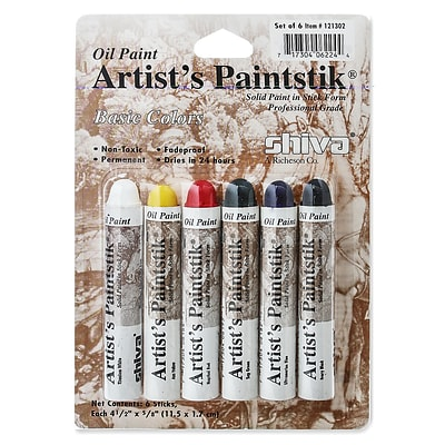 Shiva ArtistS Paintstik Oil Color Sets Basic Colors Set Set Of 6 (121302)