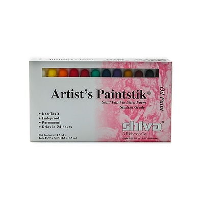 Shiva ArtistS Paintstik Oil Color Sets Student Set Set Of 12 (121501)