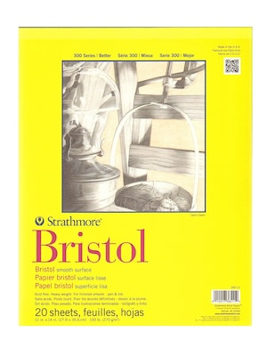 Strathmore 300 Series Bristol Smooth 11 In. X 14 In. [pack Of 2] (2pk 342 11 1)