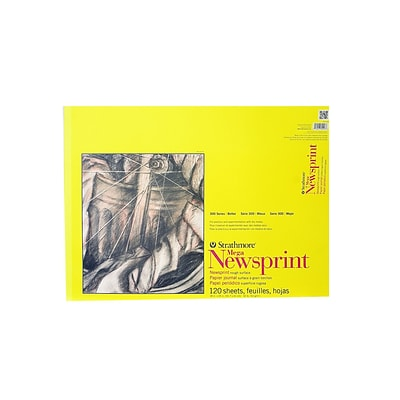 Strathmore 300 Series Newsprint Paper Pads Rough 120 Sheets 18 In. X 24 In. [Pack Of 2] (2PK-307-418-1)