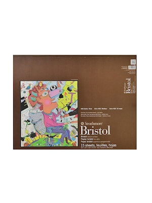 Strathmore 400 Series Bristol Pads 18 In. X 24 In. Vellum 15 Sheets (475 9 1)