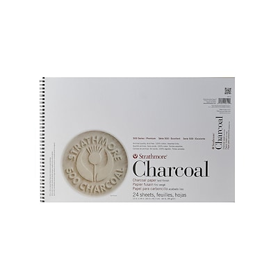 Strathmore 500 Series Charcoal Paper Pads Assorted Tints 12 In. X 18 In. (561-2-1)