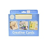 Strathmore Blank Greeting Cards With Envelopes Fluorescent White With Same Deckle Pack Of 20 (105-16