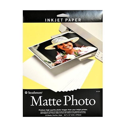 Strathmore Digital Photo Paper Matte 8.5 In. X 11 In. Pack Of 15 (59-635)