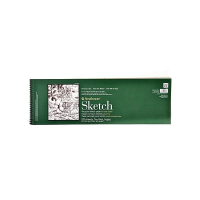 Strathmore Series 400 Premium Recycled Sketch Pads 8 In. X 24 1/2 In. 50 Sheets [Pack Of 2] (2PK-457-8-1)
