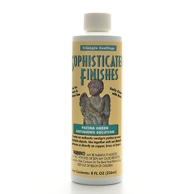 Triangle Coatings Sophisticated Finishes Patina Green Antiquing Solution 8 Oz. (PG6)