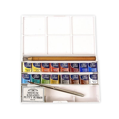 Winsor  And  Newton Cotman Water Colour Deluxe Sketchers Pocket Box Set Of 12 (0390060)