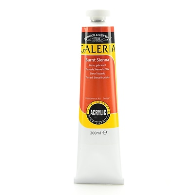 Winsor  And  Newton Galeria Flow Formula Acrylic Colours Burnt Sienna 200 Ml 74 (2136074)