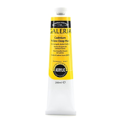 Winsor  And  Newton Galeria Flow Formula Acrylic Colours Cadmium Yellow Deep Hue 200 Ml 115 [Pack Of 2] (2PK-2136115)