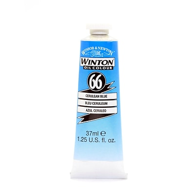 Winsor  And  Newton Winton Oil Colours 37 Ml Cerulean Blue 66 [Pack Of 2] (2PK-1414137)