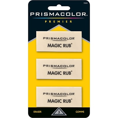 Prismacolor ® MAGIC RUB® Art Eraser, White, 3/pk (70503)