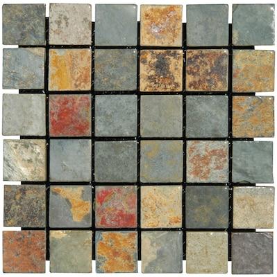 "MSI California 2"" x 2"" Slate Mosaic Tile in multi"