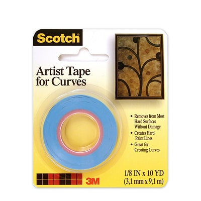 3M Scotch Artist Tape For Curves 1/8 In. X 10 Yd. [Pack Of 6] (6PK-FA2038)