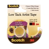 3M Scotch Low Tack Artist Tape 3/4 In. X 10 Yd. [Pack Of 6] (6PK-FA2020)