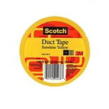 Scotch Colored Duct Tape Sunshine Yellow 1.88 In. X 20 Yd. Roll, 6/Pack, (6PK-920-YLW-C)