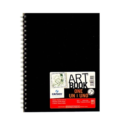 Canson Art Book One Sketch Books, WireBound, 8-1/2 In. x 11 In., 80 Sheets, Pack Of 2 (2PK-100516223)