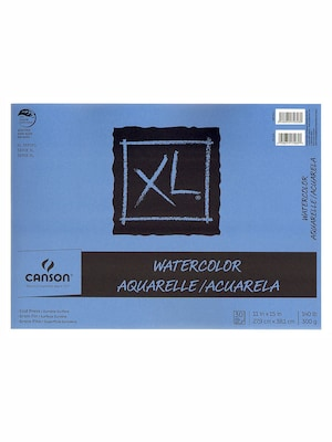 Canson Xl Watercolor Pads, 11 In. X 15 In., Pad Of 30, Pack Of 2 (2pk 100510942)