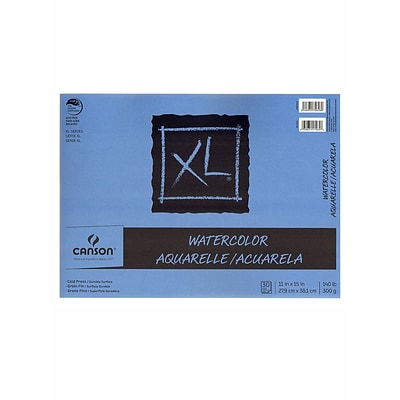 Canson XL Watercolor Pads, 11 In. x 15 In., Pad Of 30, Pack Of 2 (2PK-100510942)
