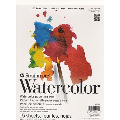 Strathmore Student Art Watercolor Pads 11 In. X 15 In. [Pack Of 3] (3PK-25-111-1)