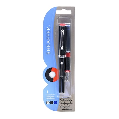 Sheaffer Viewpoint Calligraphy Fountain Pen Fine Black And Blue Ink [Pack Of 3] (3PK-73400)