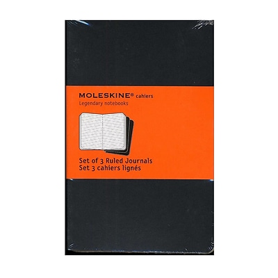 Moleskine Cahier Journals Black, Ruled 3 1/2 In. X 5 1/2 In. Pack Of 3, 64 Pages Each [Pack Of 3] (3PK-9788883704895)