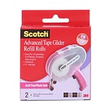Scotch Tape Glider Refill Rolls Box Of 2 Acid-Free Adhesive Transfer Tape 1/4 In. [Pack Of 3] (3PK-0