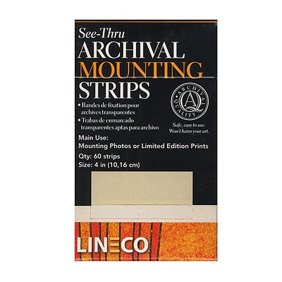 Lineco Self-Stick Mounting Strips 4 In. Pack Of 60 [Pack Of 2] (2PK-L533-4015)