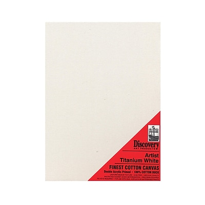 Discovery Finest Stretched Cotton Canvas White 14 In. X 18 In. Each [Pack Of 3] (3PK-TX161418)