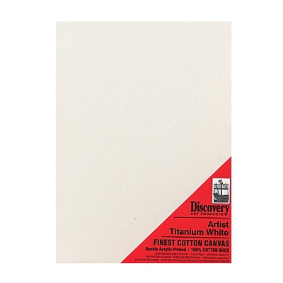 Discovery Finest Stretched Cotton Canvas White 20 In. X 24 In. Each [Pack Of 2] (2PK-TX162024)