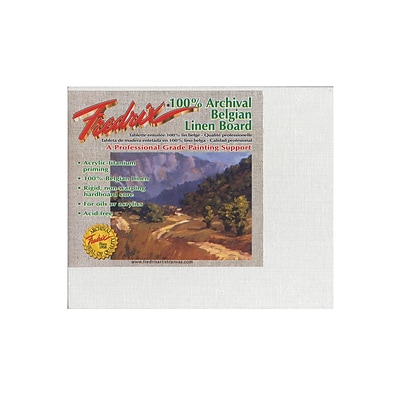 Fredrix Pro Series Archival Linen Canvas Boards 8 In. X 10 In. [Pack Of 2] (2PK-3424)