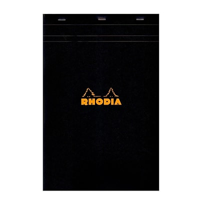 Rhodia Classic French Paper Pads Graph 8 1/4 In. X 12 1/2 In. Black [Pack Of 3] (3PK-192009)