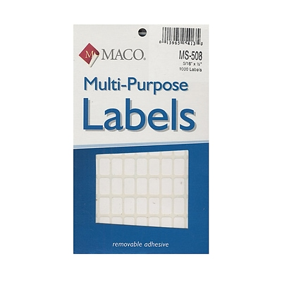Maco Multi-Purpose Handwrite Labels Rectangular 5/16 In. X 12 In. Pack Of 1000 [Pack Of 6] (6PK-MS-508)