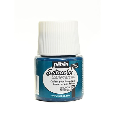 Pebeo Setacolor Transparent Fabric Paint Turquoise 45 Ml [Pack Of 3] (3PK-329-030)