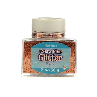 Advantus Corp Extra Fine Glitter Topaz 2 Oz. Stackable Jar [Pack Of 4] (4PK-SUL50863)