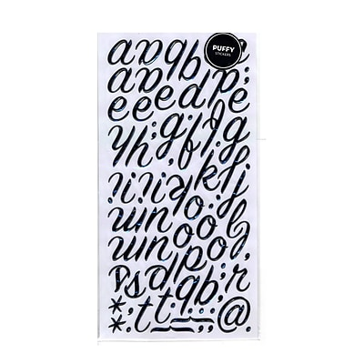 American Crafts Thickers Dimensional Letters Puffy Rainboots Black [Pack Of 3] (3PK-42967)