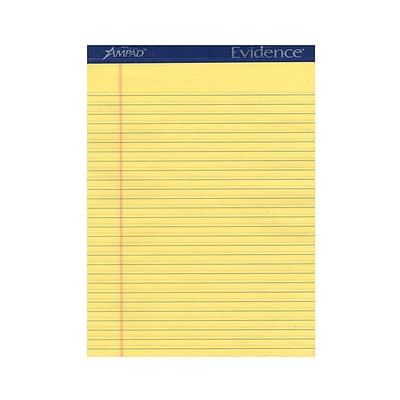 Ampad Ruled Legal Pads Canary 8 1/2 In. X 11 In. [Pack Of 6] (6PK-20-220)