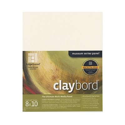 Ampersand Claybord 8 In. X 10 In. Each [Pack Of 2] (2PK-CBS08)