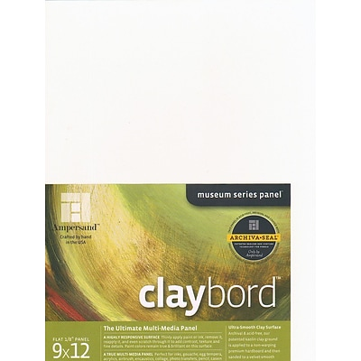 Ampersand Claybord 9 In. X 12 In. Each [Pack Of 2] (2PK-CBS09)
