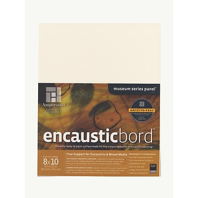Ampersand Encausticbord 8 In. X 10 In. 1/4 In. Each [Pack Of 3] (3PK-EN0810)