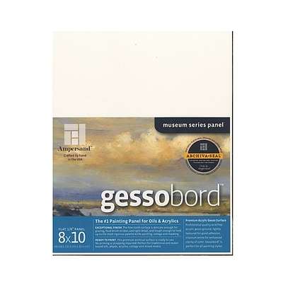 Ampersand Gessobord 8 In. X 10 In. 1/8 In. Each [Pack Of 3] (3PK-GBS08)