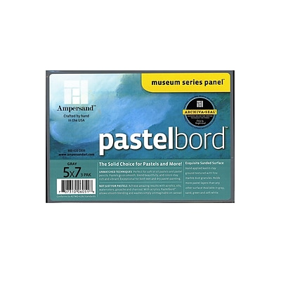 Ampersand Pastelbord 5 In. X 7 In. Gray Pack Of 3 (PB05)